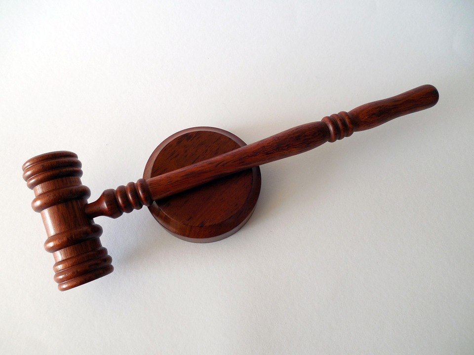 Photo of a wooden judges gavel